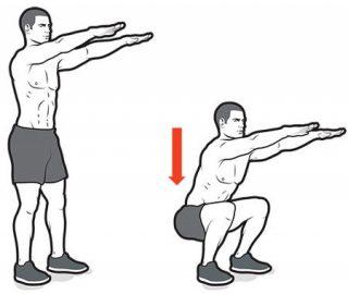 Gli allenamenti dei supereroi - Squat