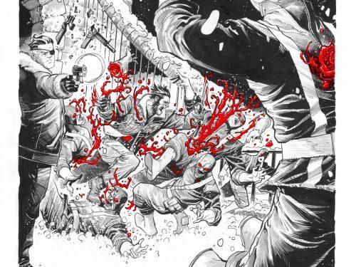 Wolverine Tinte Bianco Nero e Rosso Sangue